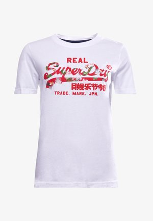 VINTAGE LOGO - Print T-shirt - white
