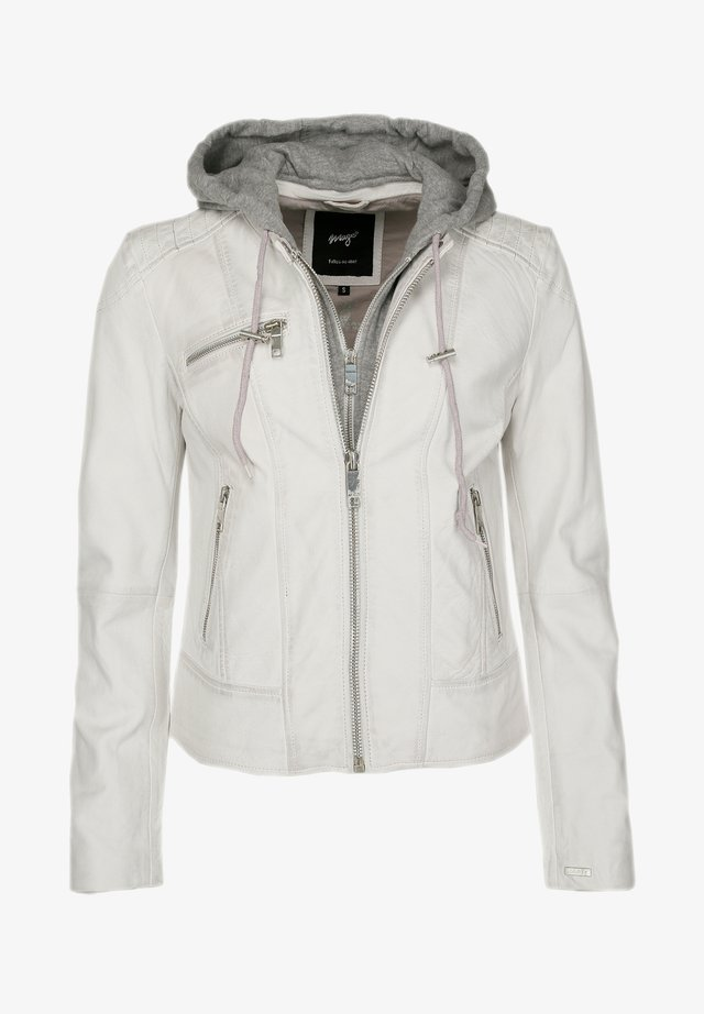 Leren jas - white