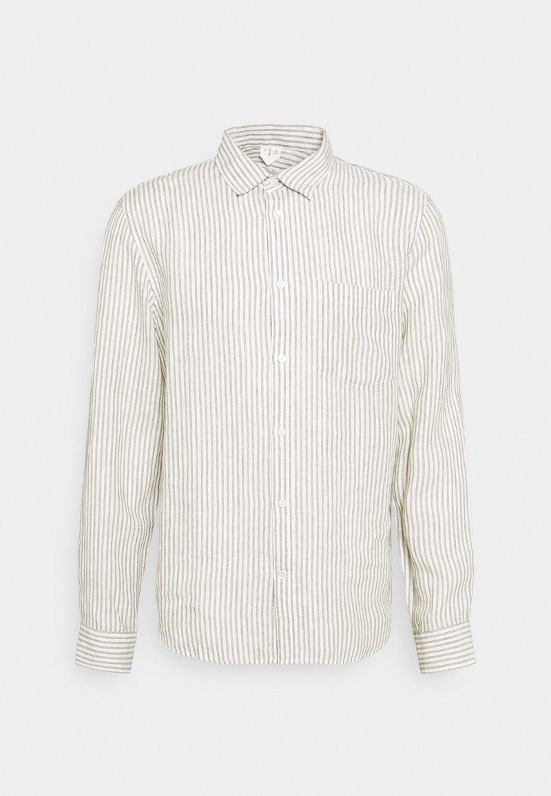 ARKET - Linen Shirt - Shirt - green/white