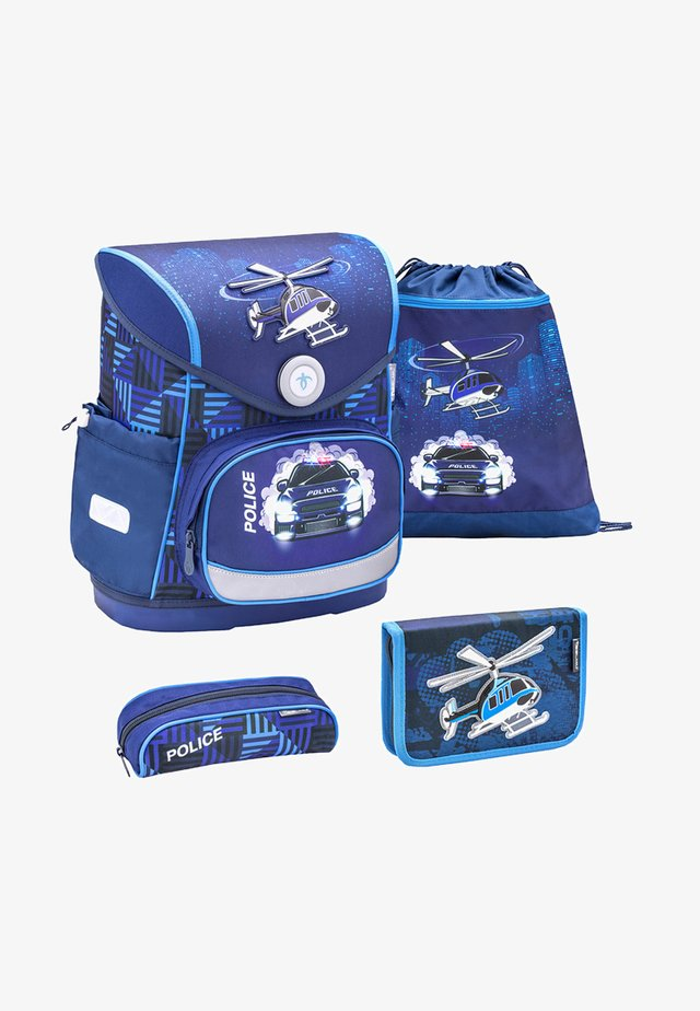 SET - School bag - metallic blue
