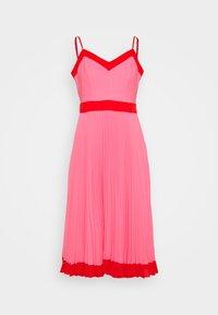 Milly - JILL PLEAT POLY DOBBY DRESS - Korte jurk - watermelon/coral - 5