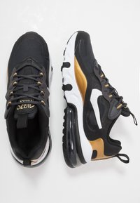Nike Sportswear - AIR MAX 270 REACT - Sneakers - anthracite/white/black/metallic gold - 0
