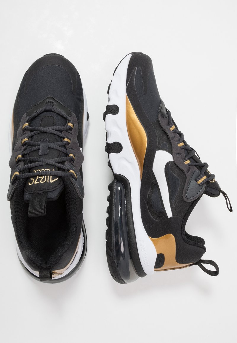 Nike Sportswear - AIR MAX 270 REACT - Sneakers - anthracite/white/black/metallic gold