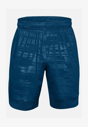 TRAIN STRETCH PRINT  - Sports shorts - graphite blue