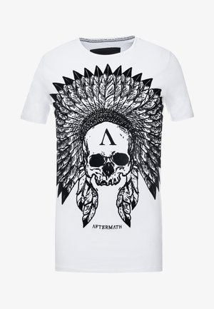 WITH SKULL PRINT - Print T-shirt - white