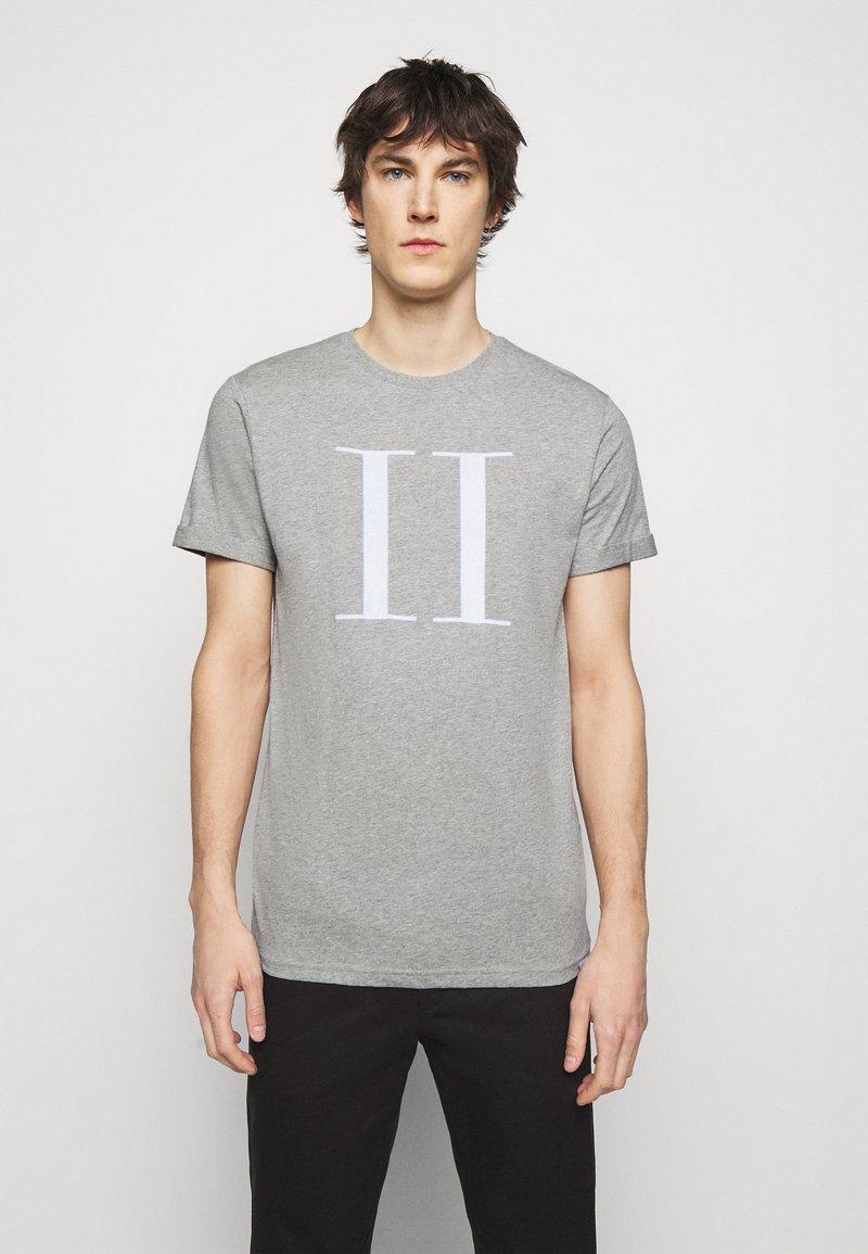 Les Deux - ENCORE  - Print T-shirt - grey melange