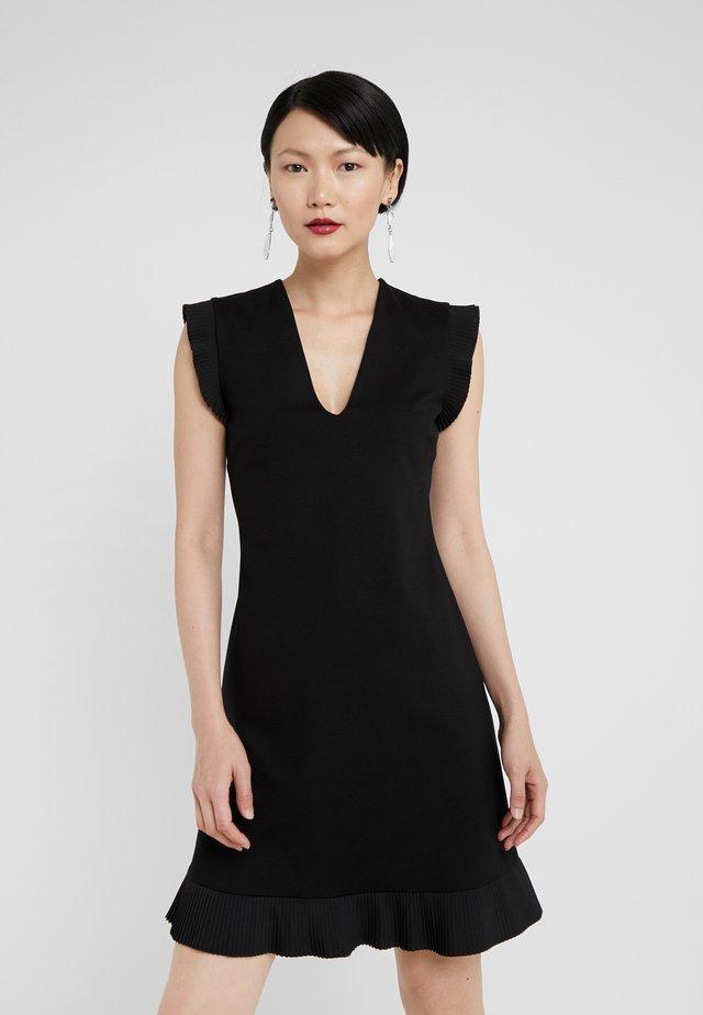 ABITO IN PUNTO MILANO CHINE PLISSE - Jersey dress - nero