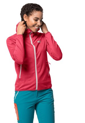 Soft shell jacket - clear red
