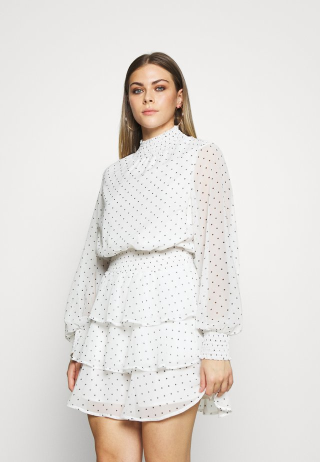 ALEXA TURTLNECK DRESS EXCLUSIVE - Day dress - white/black