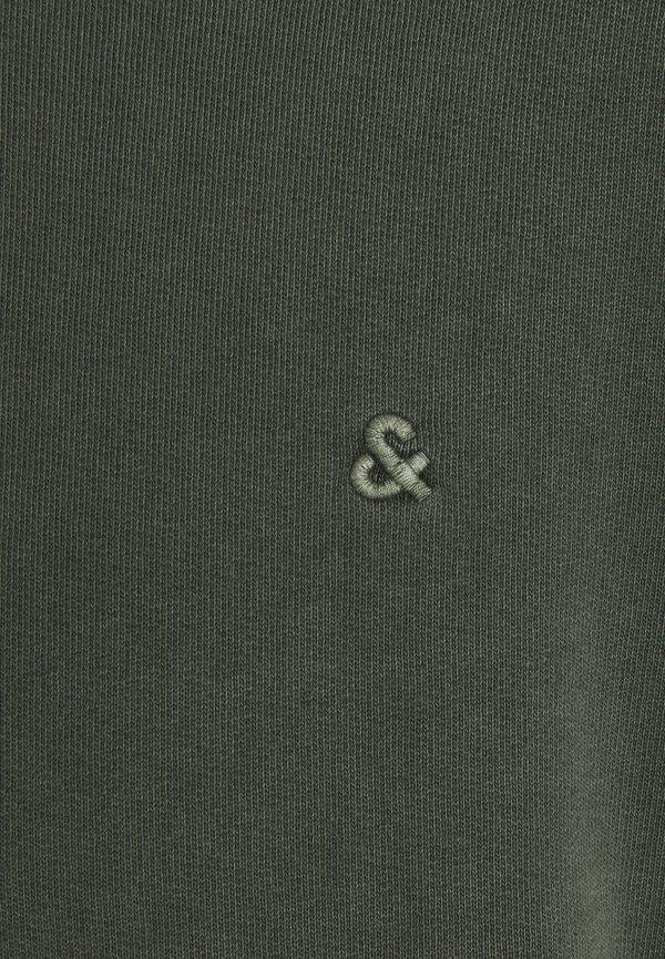 Jack & Jones JJEWASHED CREW NECK - Bluza - forest night/ciemnozielony Odzież Męska FDTR
