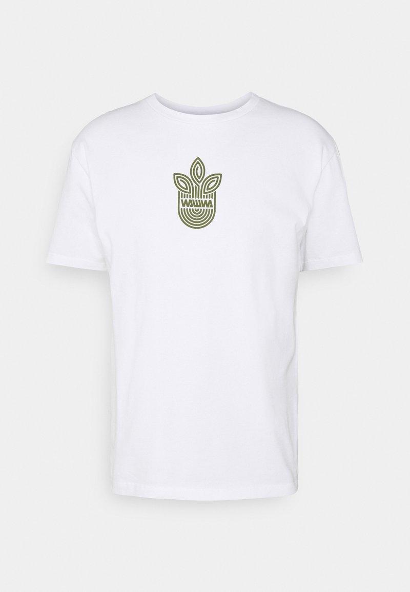 WAWWA - LEAF LOGO UNISEX - Camiseta estampada - white