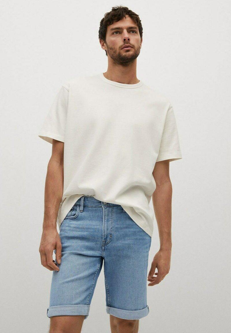 Mango - Denim shorts - azul medio
