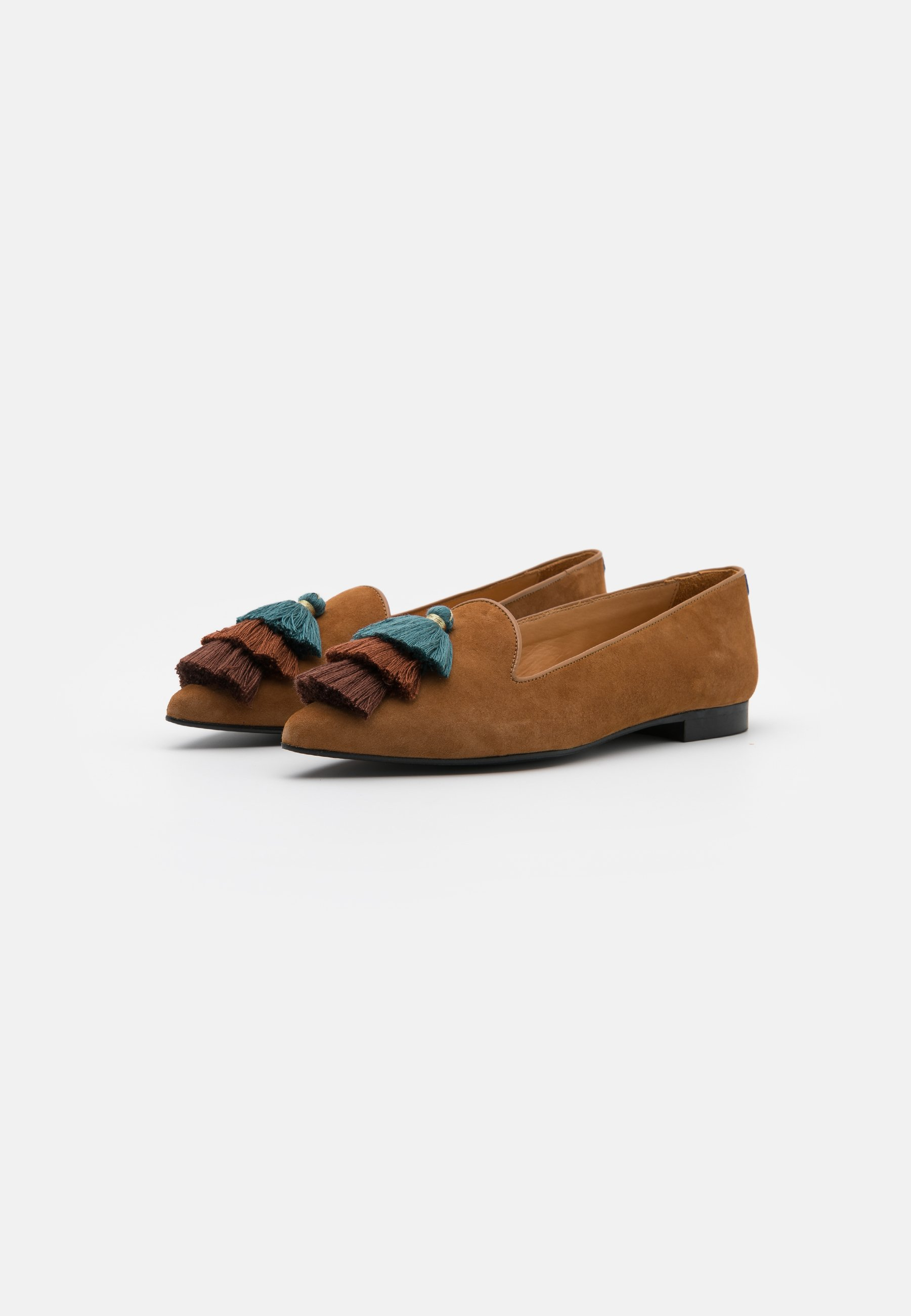 Chatelles Pointy - Loafers Camel Brown/blue