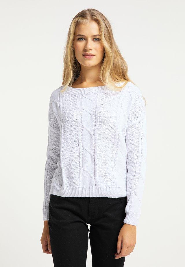 Sweter - weiß