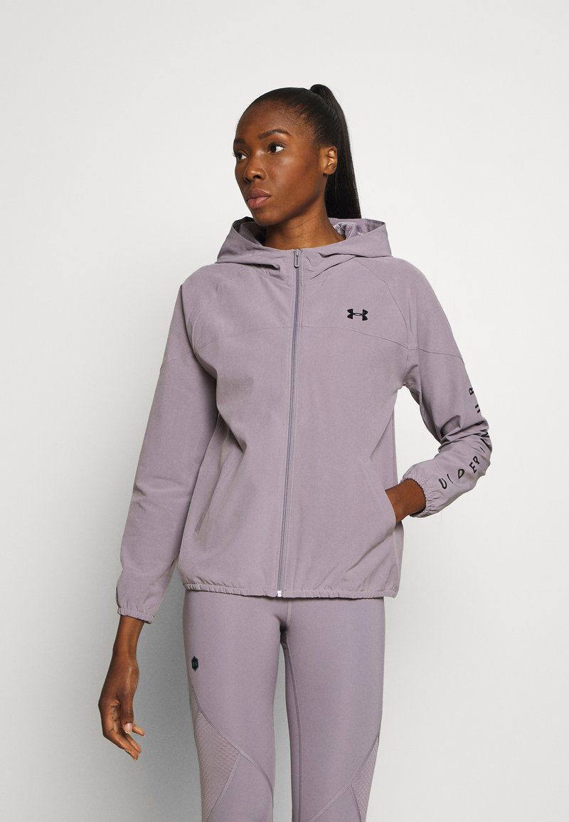 Under Armour - HOODED JACKET - Løperjakke - slate purple