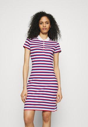 STRIPE SLIM DRESS - Day dress - red/blue