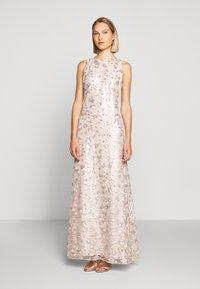 Lauren Ralph Lauren - ASTOR LONG GOWN - Vestido de fiesta - belle rose/silver - 0