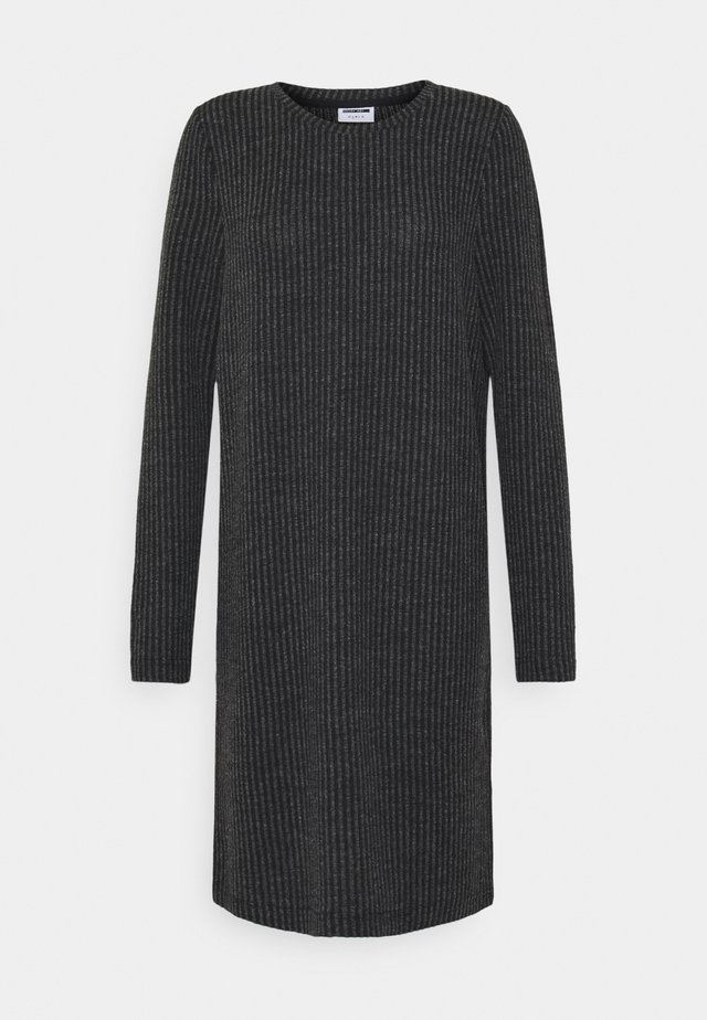 NM LUCIE - Jumper dress - dark grey melange