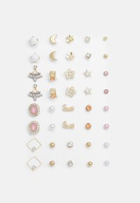Pieces - PCQIZI EARSTUDS KEY 20 PACK - Earrings - gold-coloured - 0