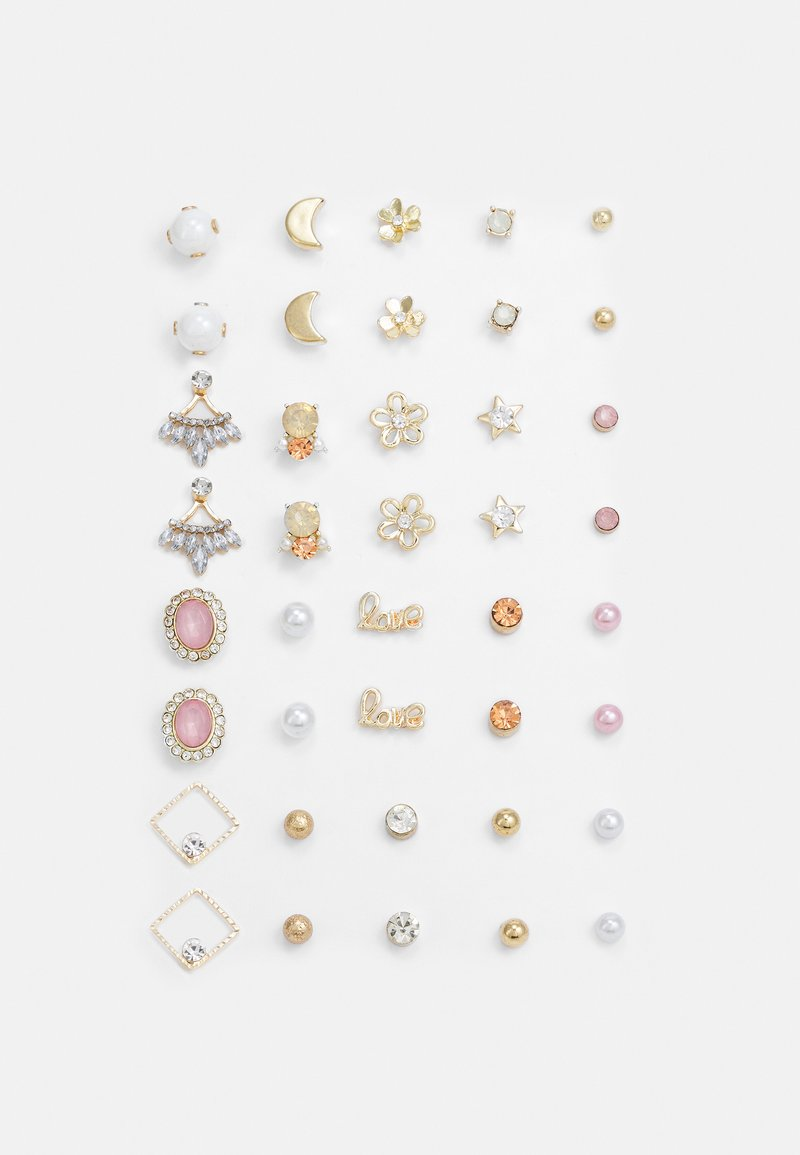Pieces - PCQIZI EARSTUDS KEY 20 PACK - Earrings - gold-coloured