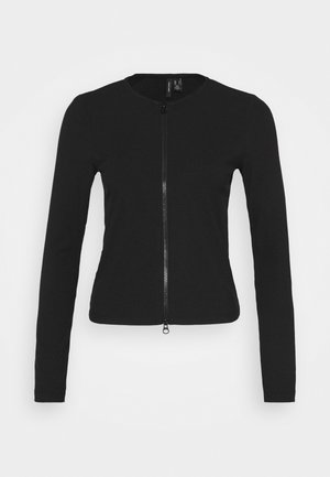 VMROSEY ZIPPER CARDIGAN - Kardigan - black