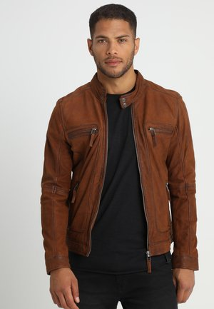 CASTEL - Leather jacket - whisky