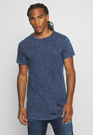 GENKO - Print T-shirt - blue acid wash