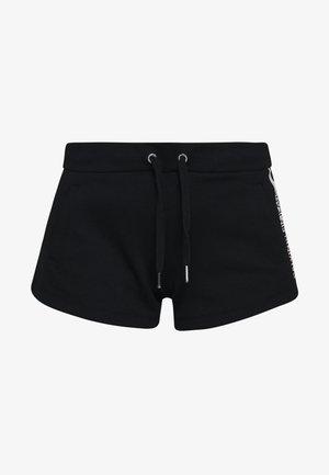 STRIPE LOGO JOGGING - Shorts - black