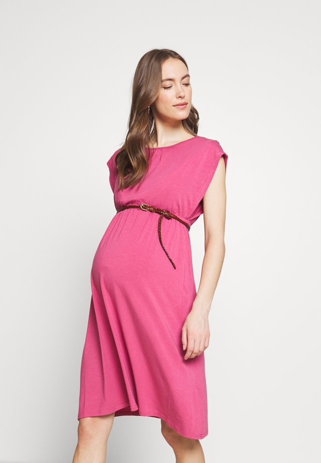 DERYN DRESS - Jersey dress - plum