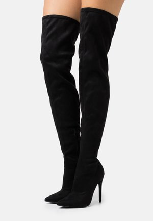 STILETTO LONG BOOT - Overknee laarzen - black