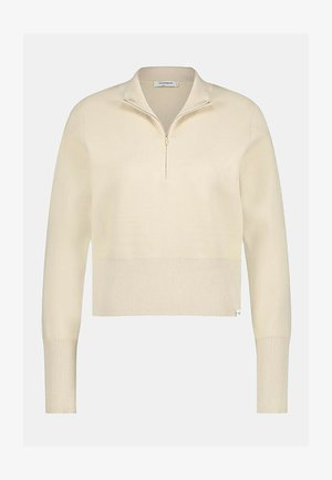 COLL NECK WITH ZIPPER - Sweater - sand