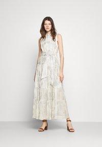 Lauren Ralph Lauren - PUJA SLEEVELESS DAY DRESS - Maxi dress - white/silver - 1