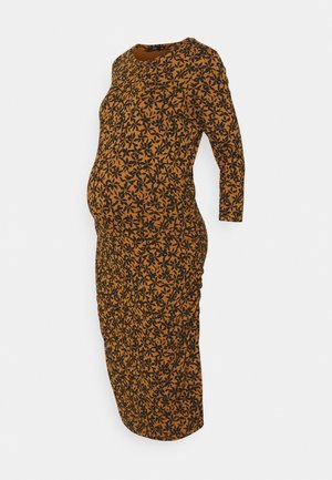 DRESS FLOWER - Jerseyklänning - chipmunk