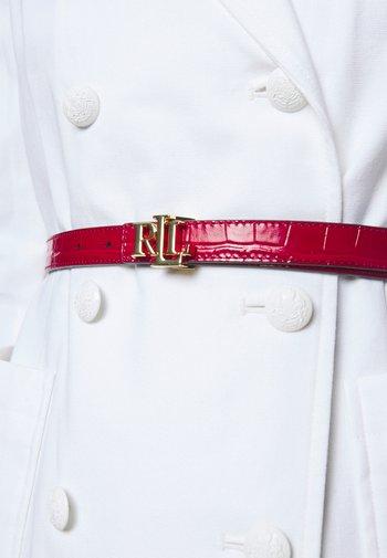 Belt - candy red/black