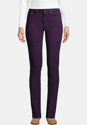 Straight leg jeans - blackberry