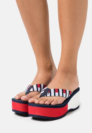 FLAG HIGH BEACH - Teensandalen - twilight navy