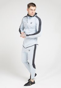 SIKSILK - ATHLETE EYELET ZIP THROUGH HOODIE - Sportovní bunda - ice grey/charcoal - 1