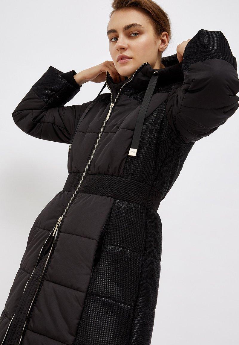 Liu Jo Jeans - LONG HOODED - Winter coat - black