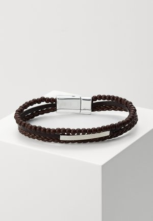 3 ROW BALL - Bracelet - brown