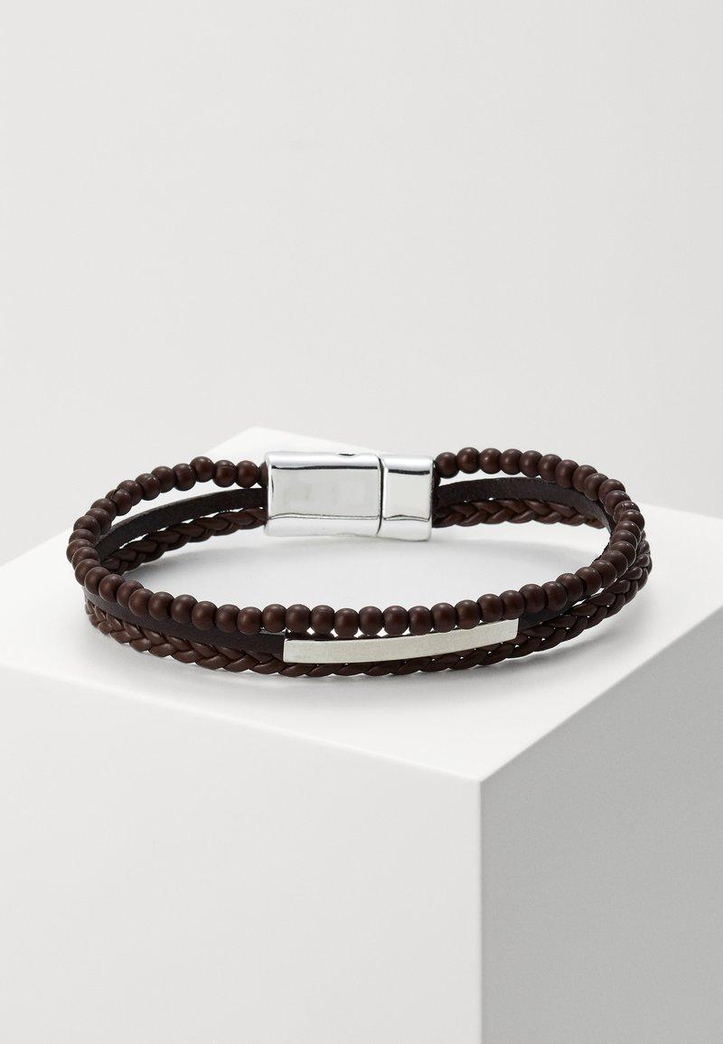 Burton Menswear London - 3 ROW BALL - Bracelet - brown