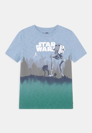 BOY STAR WARS - Triko s potiskem - bleach blue