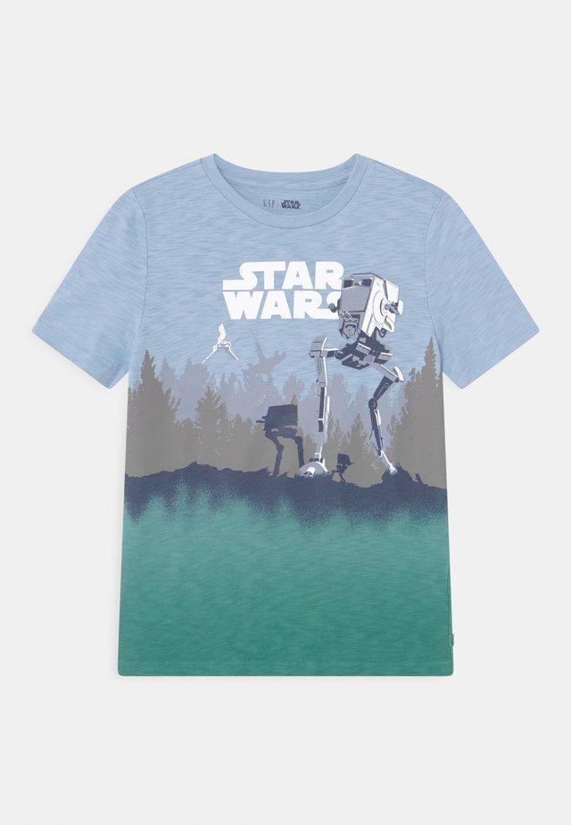 BOY STAR WARS - T-shirt med print - bleach blue