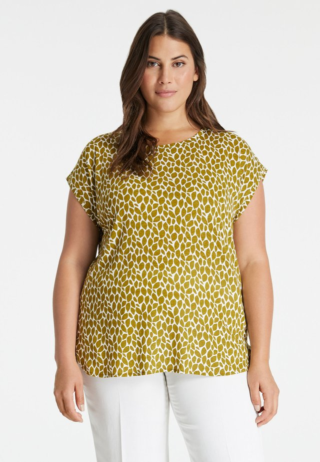T-shirt print - avocado green gemustert