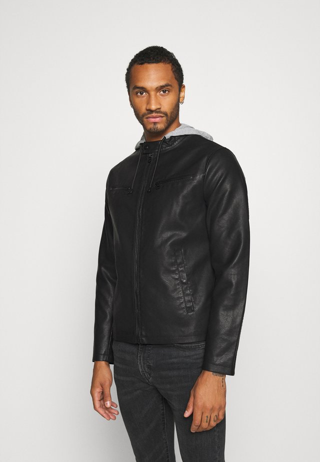 ONSDRIVE JACKET - Giacca in similpelle - black