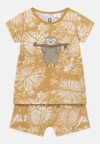 SHORT SLEEVE UNISEX - Pyjama set - honey gold