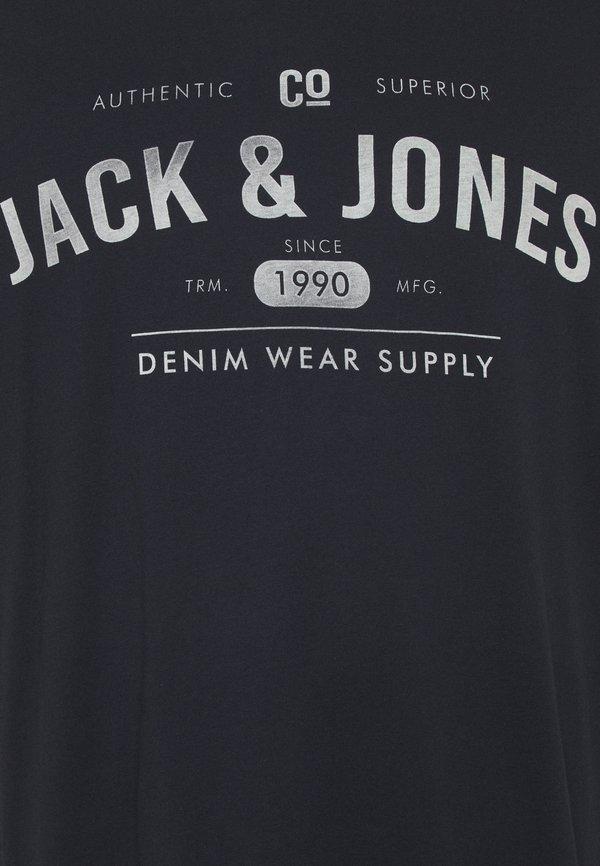 Jack & Jones JJEJEANS TEE CREW NECK 3 PACK - T-shirt z nadrukiem - cloud dancer/biały Odzież Męska QZNX