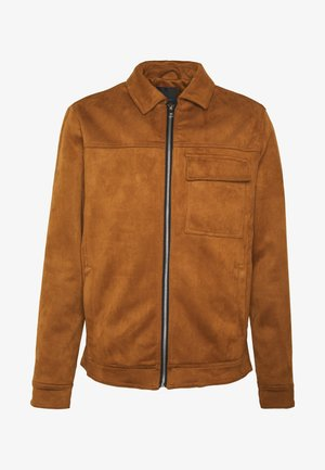 SUEDETTE UTLITY - Faux leather jacket - tan