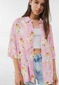 Bershka - Button-down blouse - pink - 3