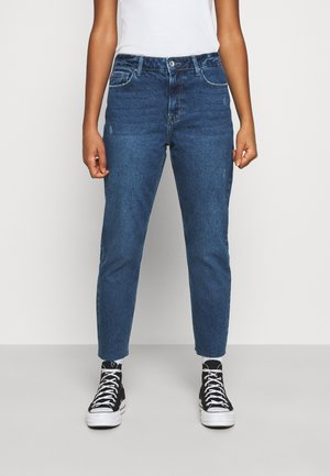 ONLEMILY  RAW - Straight leg jeans - dark blue