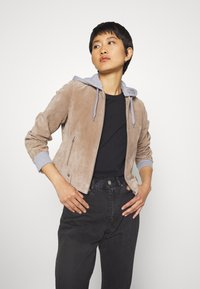 Freaky Nation - TWILA - Leather jacket - wood - 0